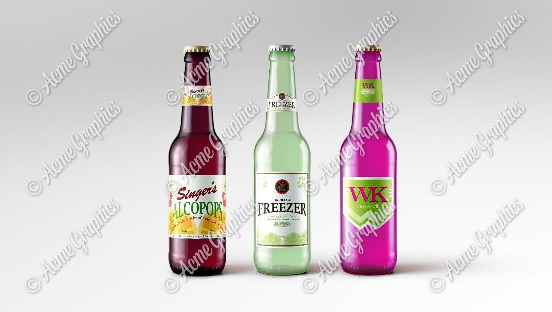 Assorted alcopops