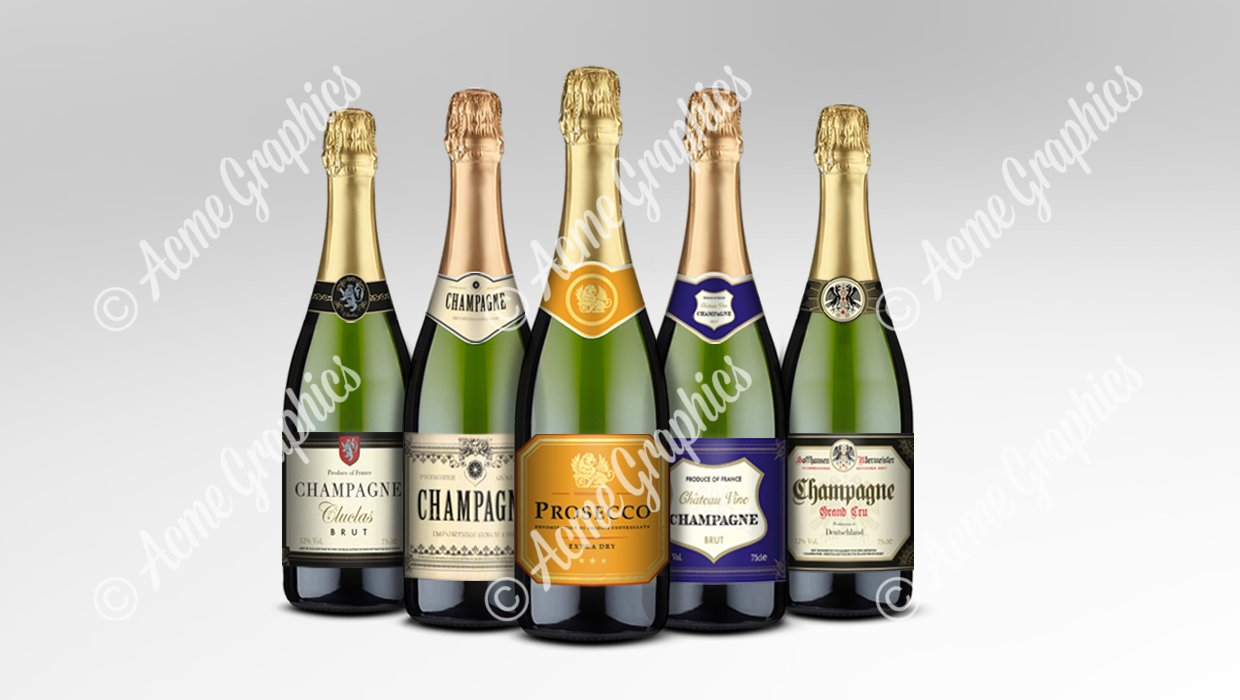 Assorted champagne