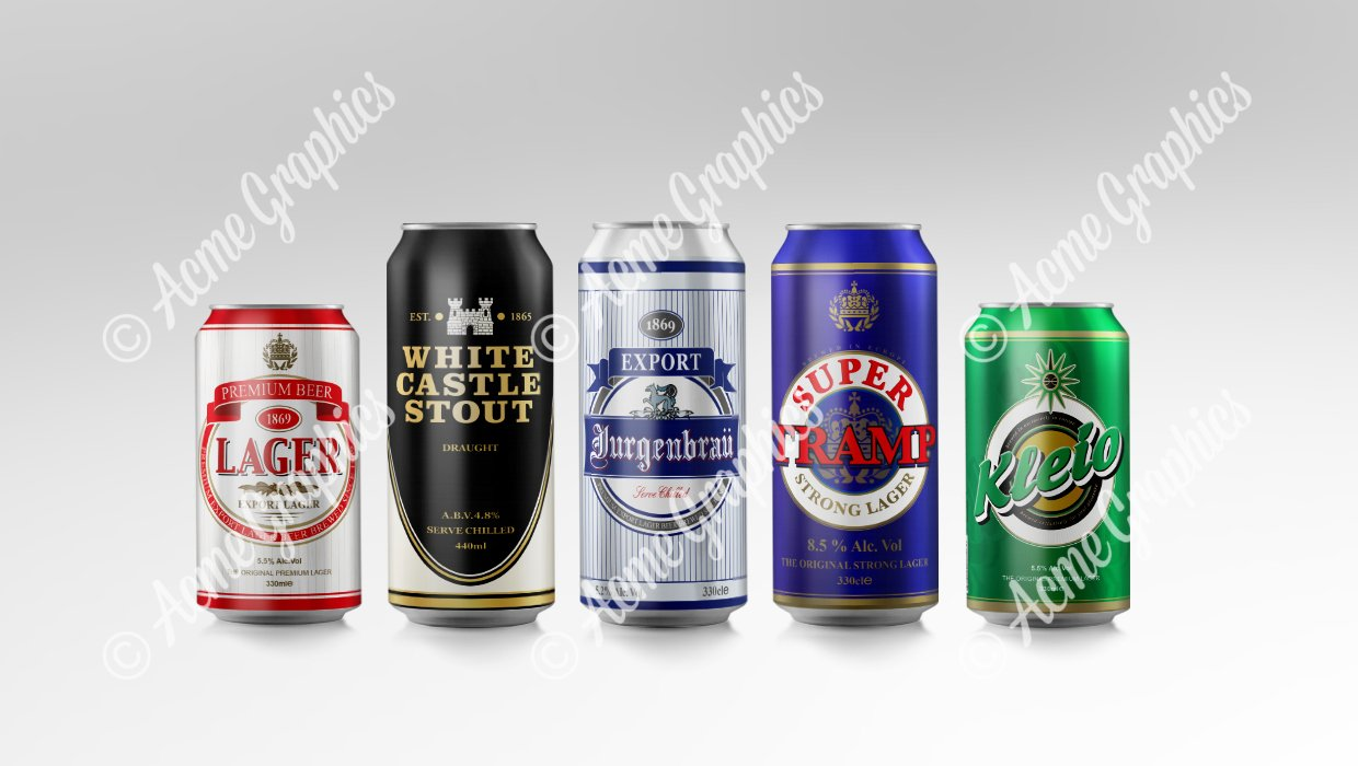 Smaller beers cans