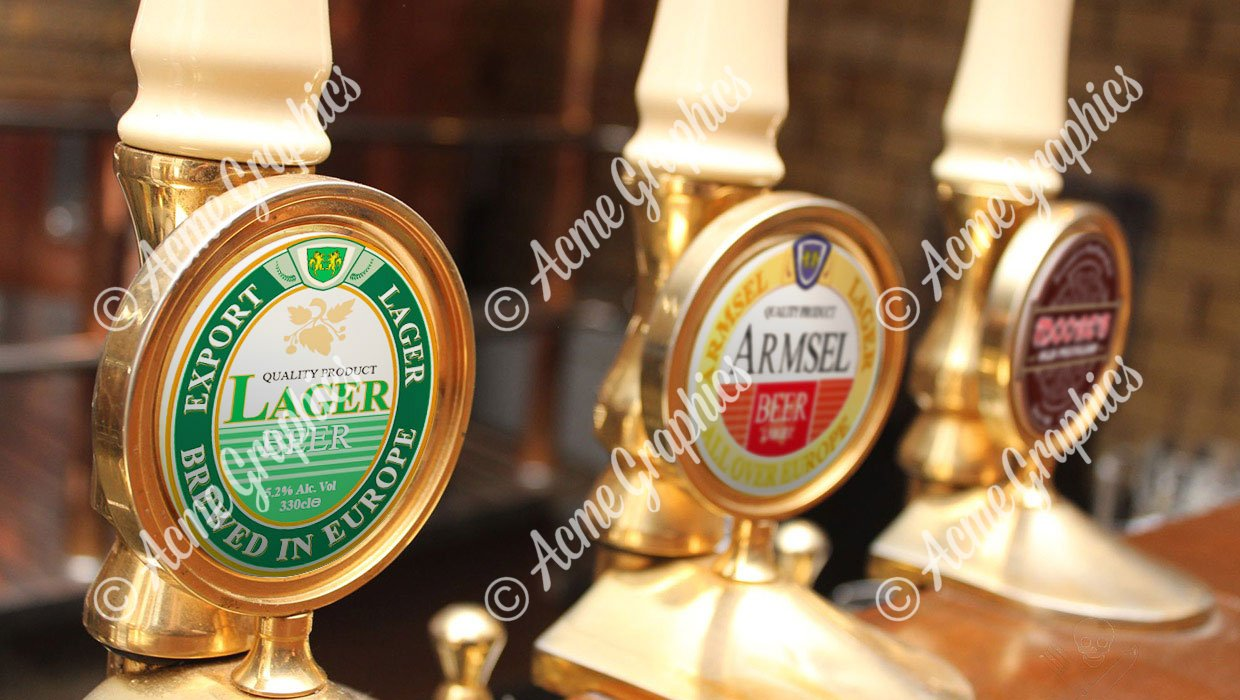 Beer Taps for pub dressing