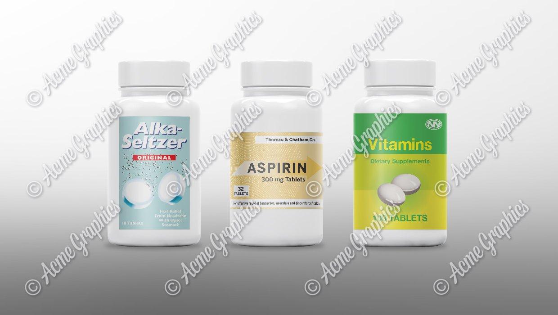 vitamin pill bottles