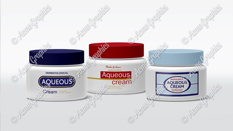 Aqueous cream pots