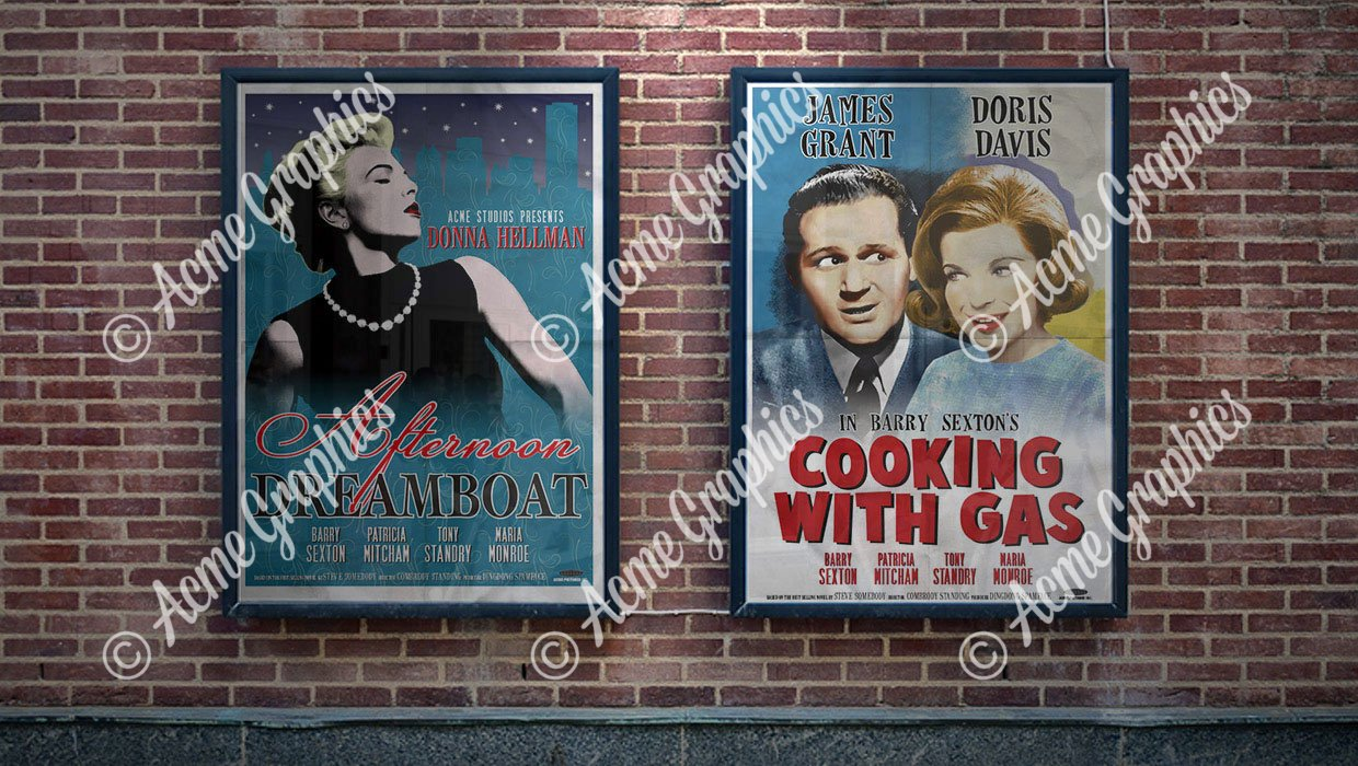 1950s film posters