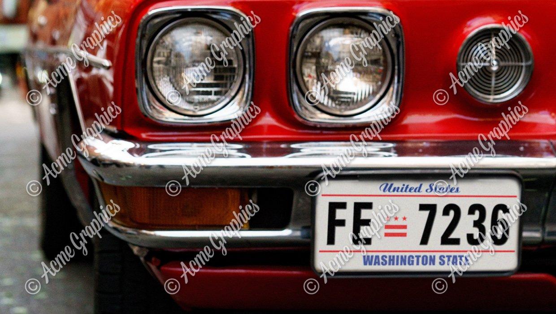 American number plate