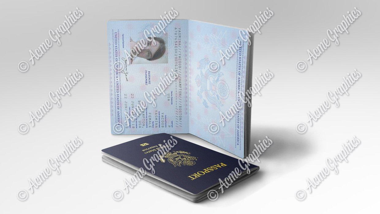 Woman's Prop US passport