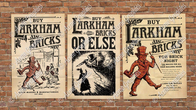 Brick-man-illustrated-posters