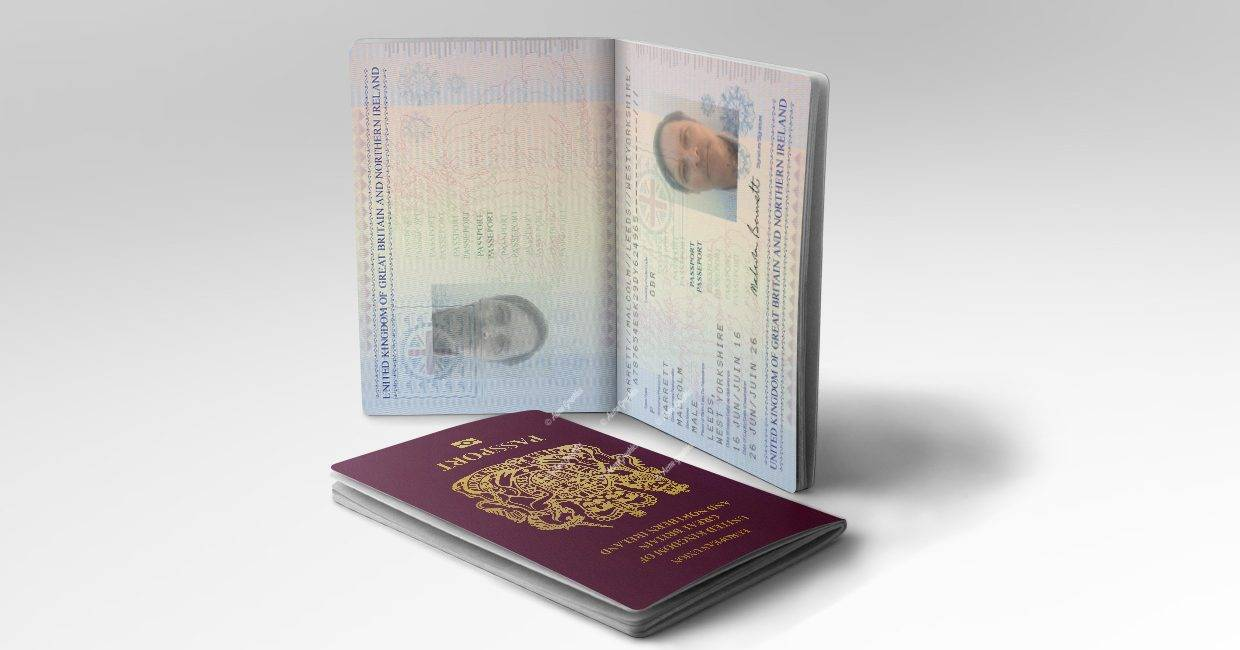 British passport prop