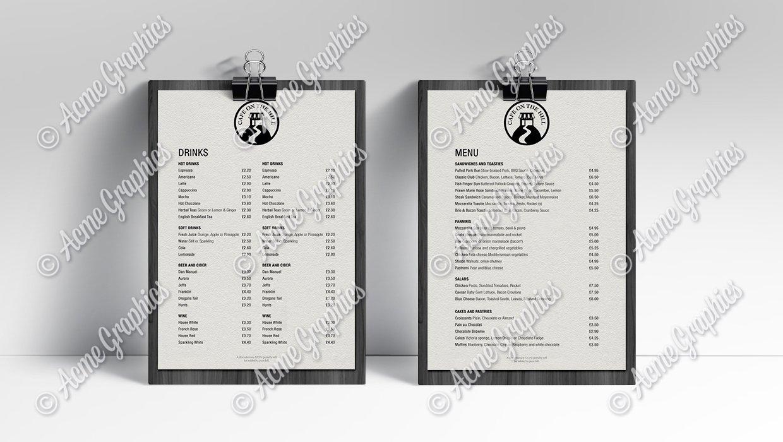 Cafe-menu
