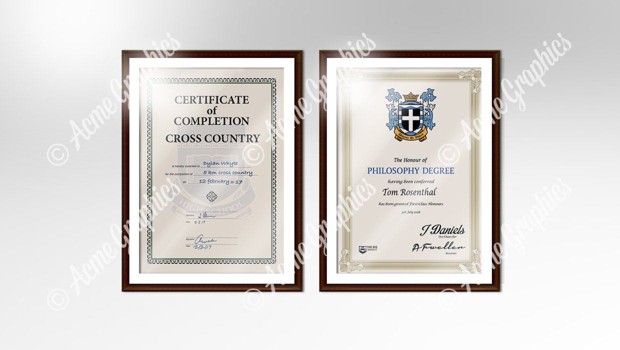 Certificate qualification in frame