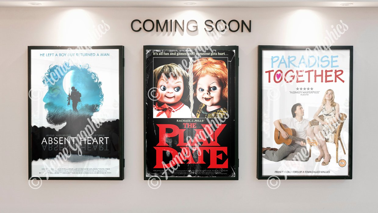 3 movie poster props