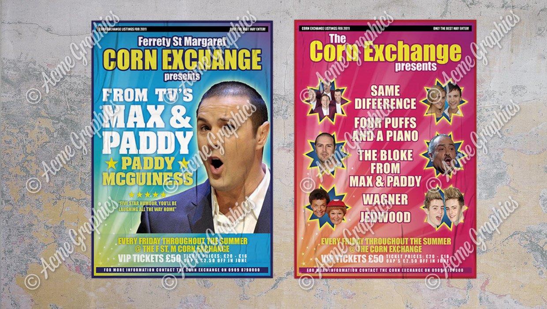 Corn exchange posters