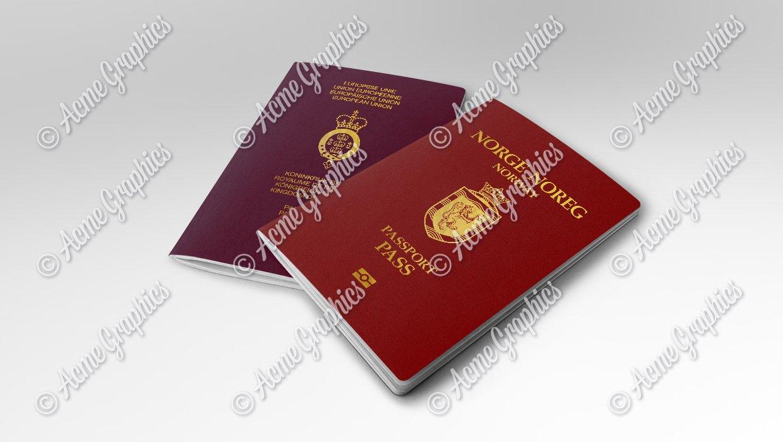 Norwegian and Belgian prop passports