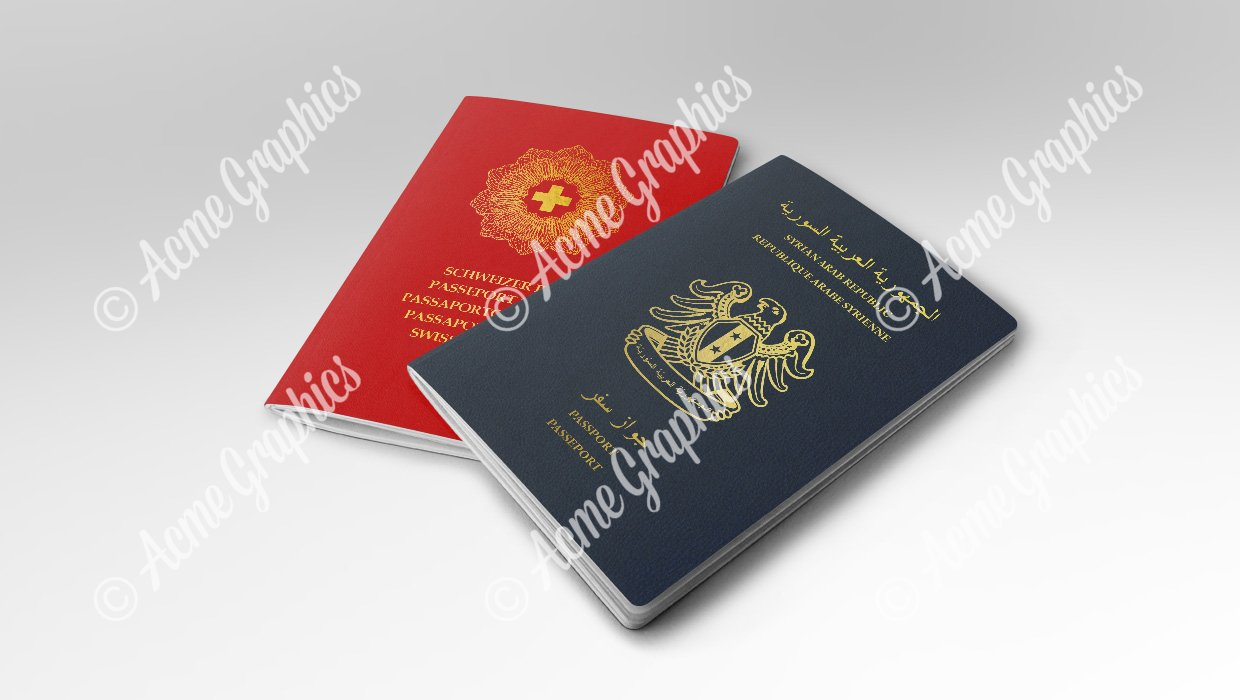 Syrian and Swiss prop passports