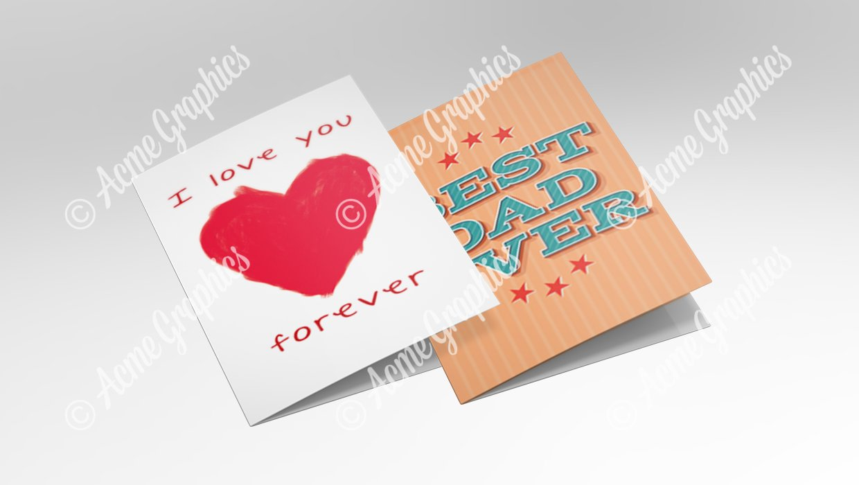 Valentines Day and Fathers day greetings cards