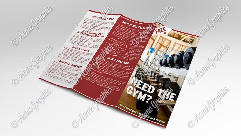 Gym leaflet