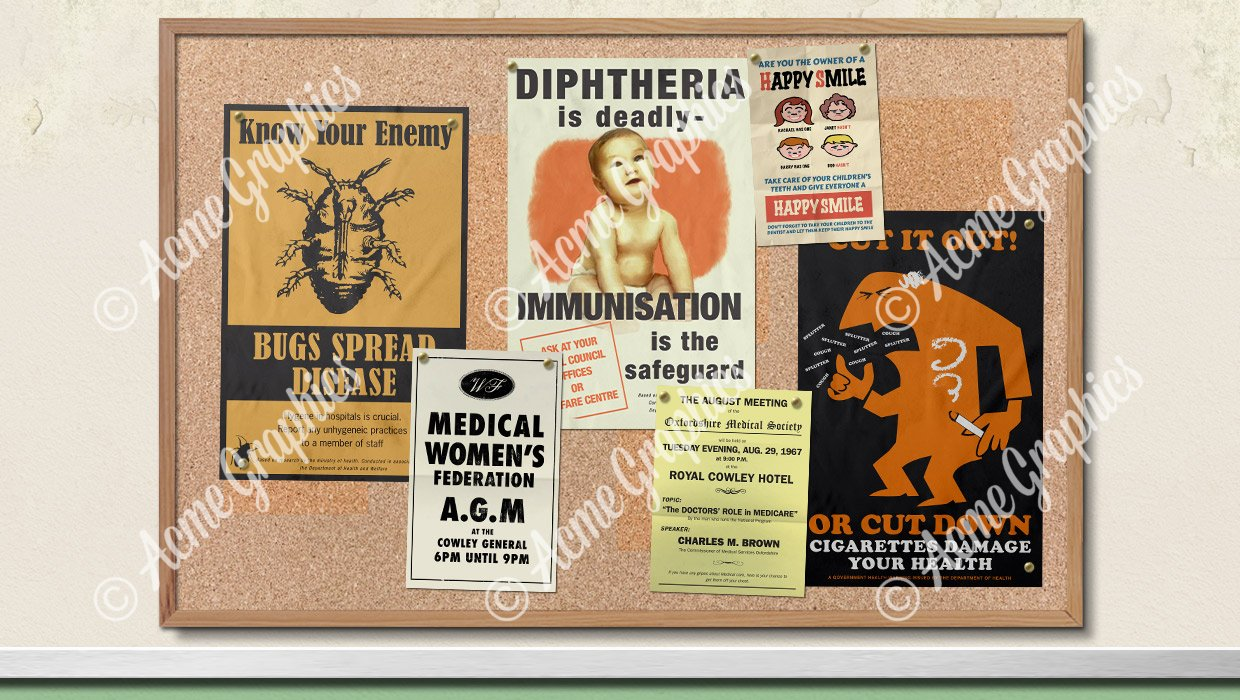 60s hospital posters