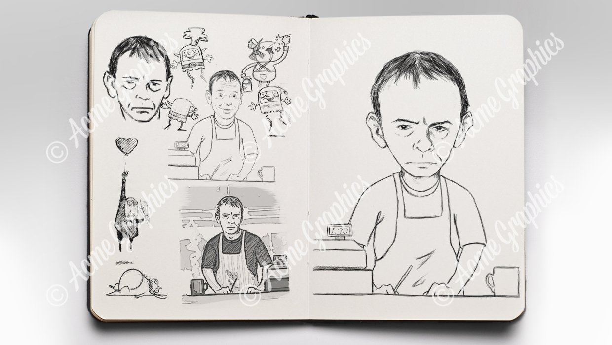 Ian Beale sketches