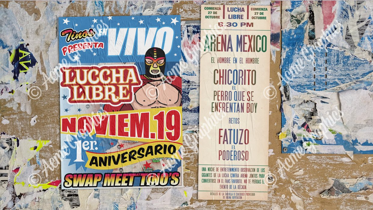 Mexican wrestling posters