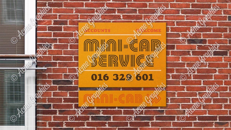 Mini cab sign