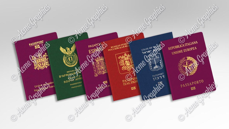 Fictional prop passports