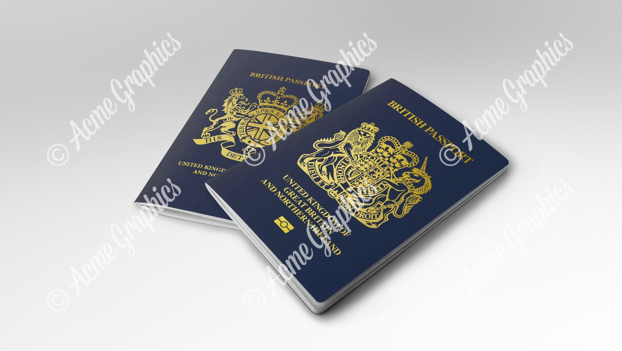 new british passport 2020 plus fictional version