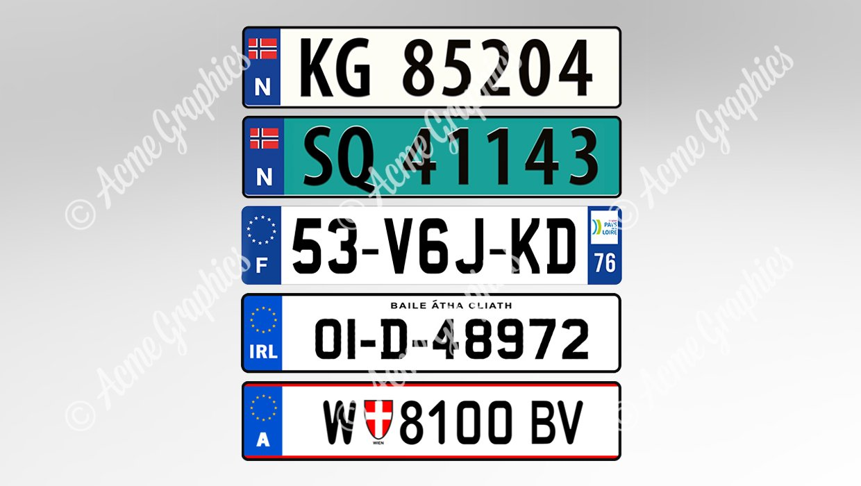 Number plate other