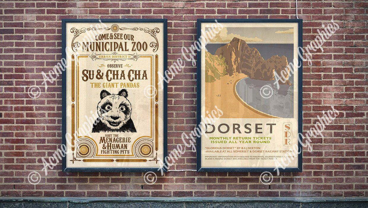 Period ad posters