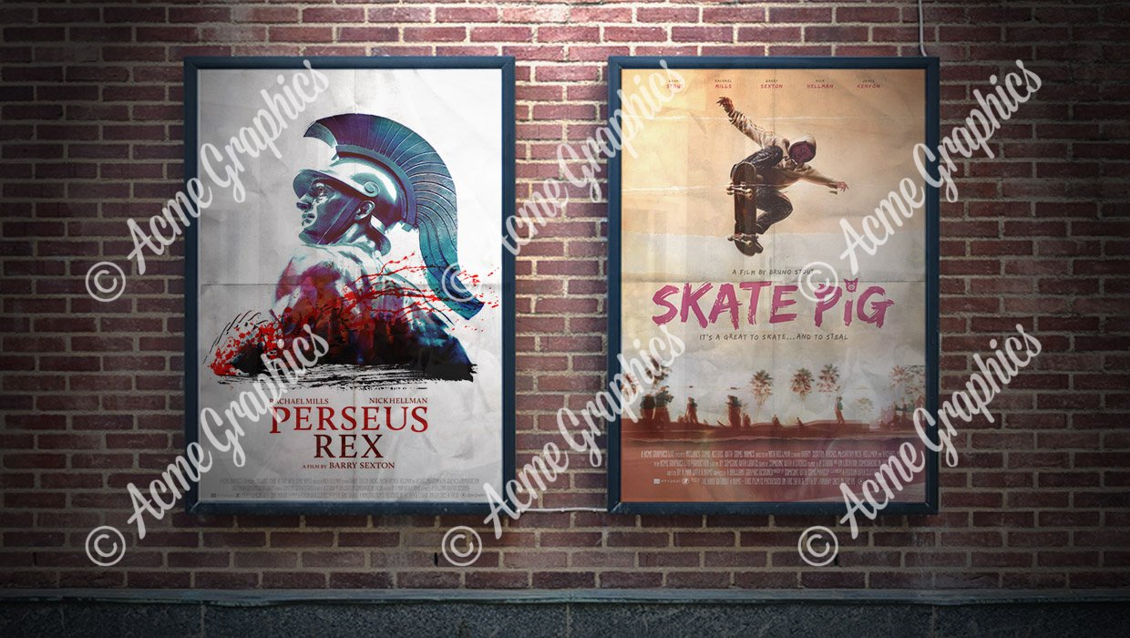 Movie poster dressing props