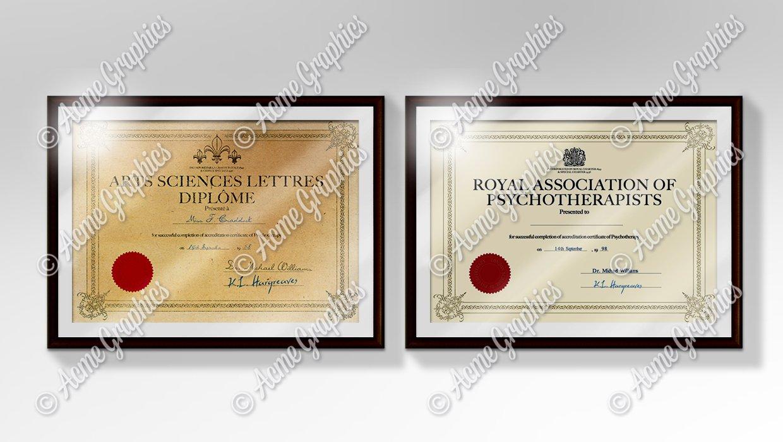 Qualifications-certificates