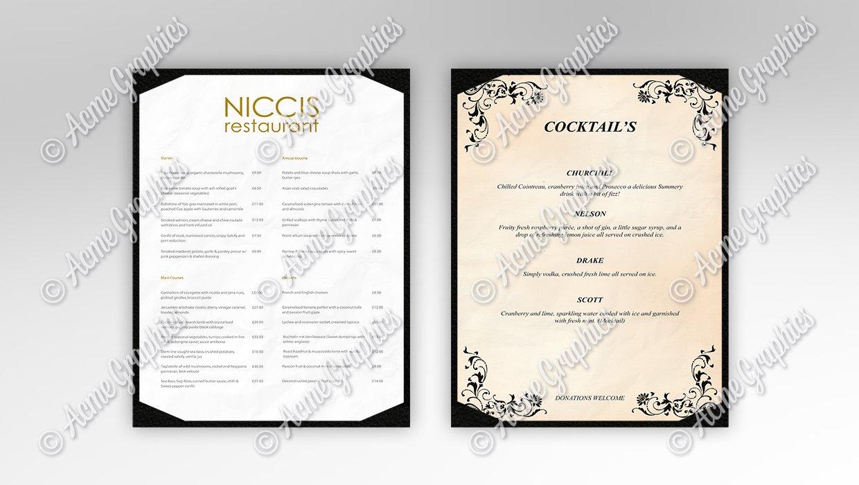 Restaurant-menus
