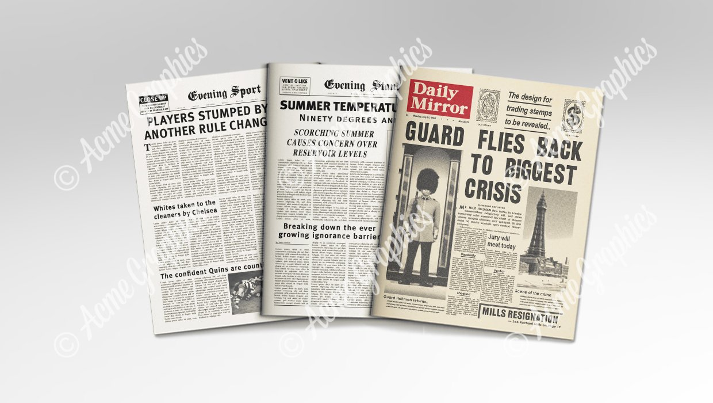 vintage newspapers props