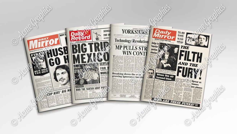 Retro newspapers 1240 x 700