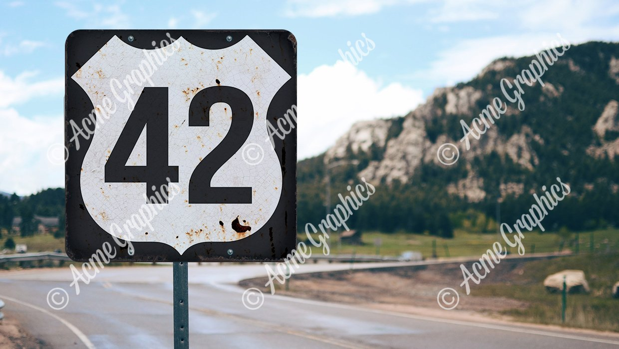 Route 42 sign