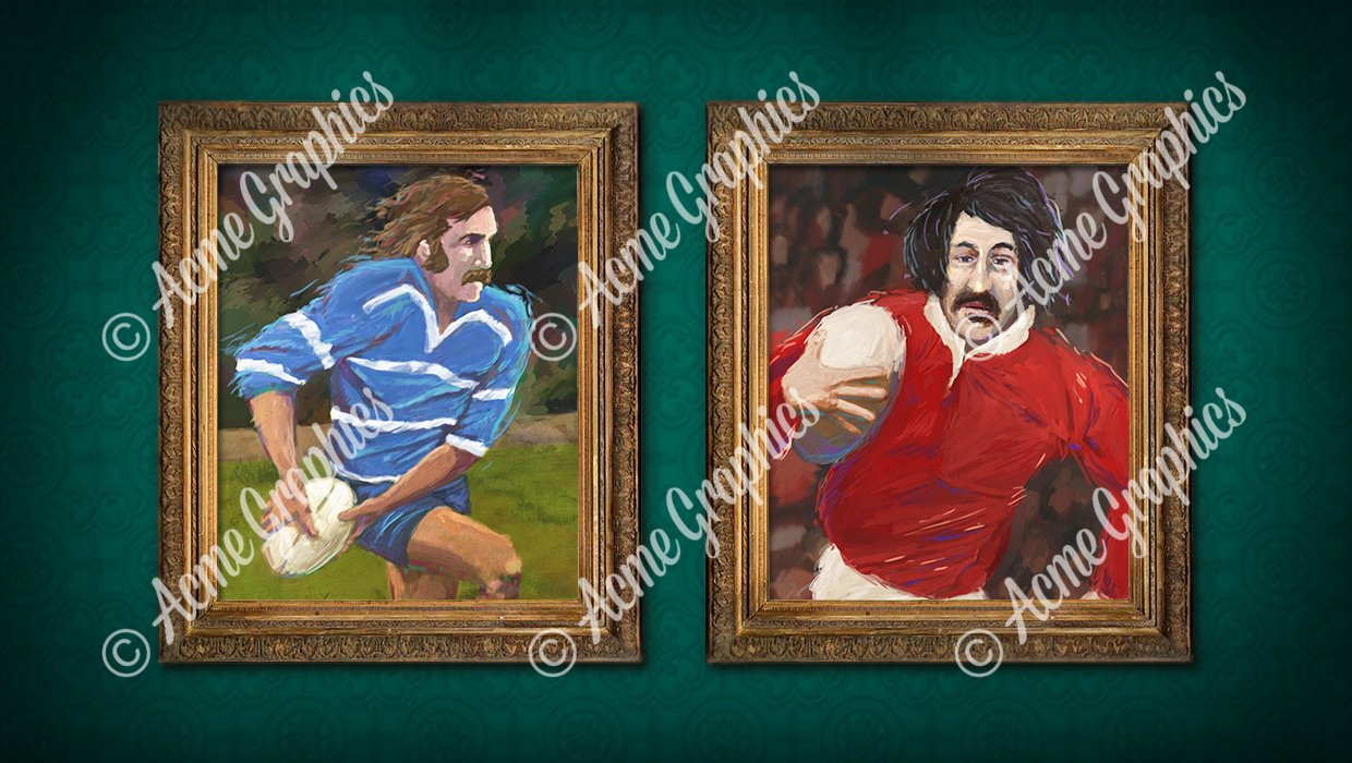Rugby painting