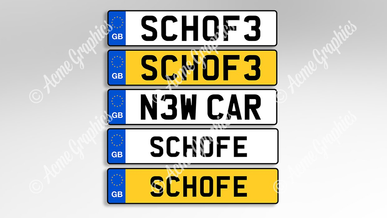 Number plates Schoffield