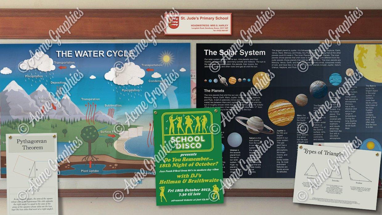 School/info posters
