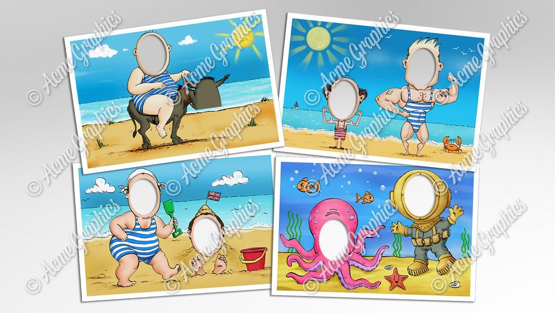 seaside illustrations