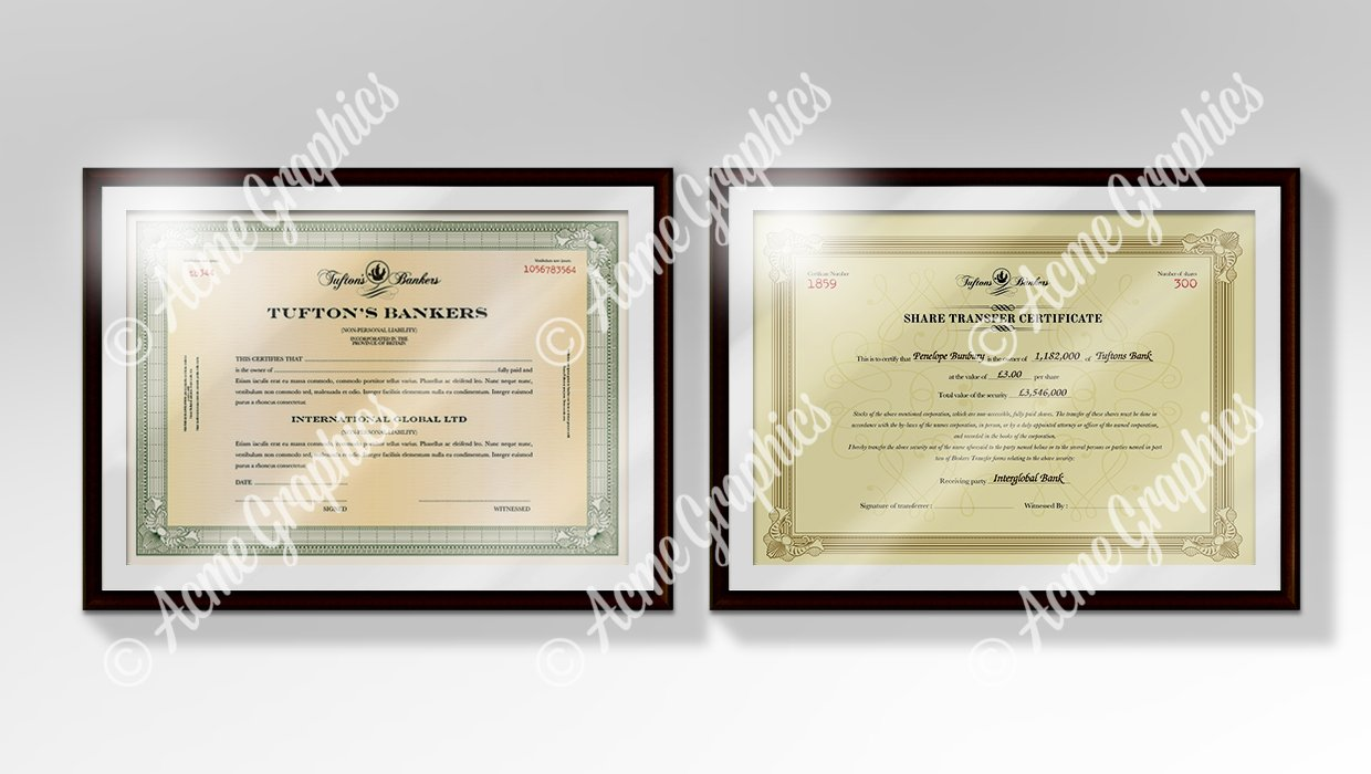 Share-certificates