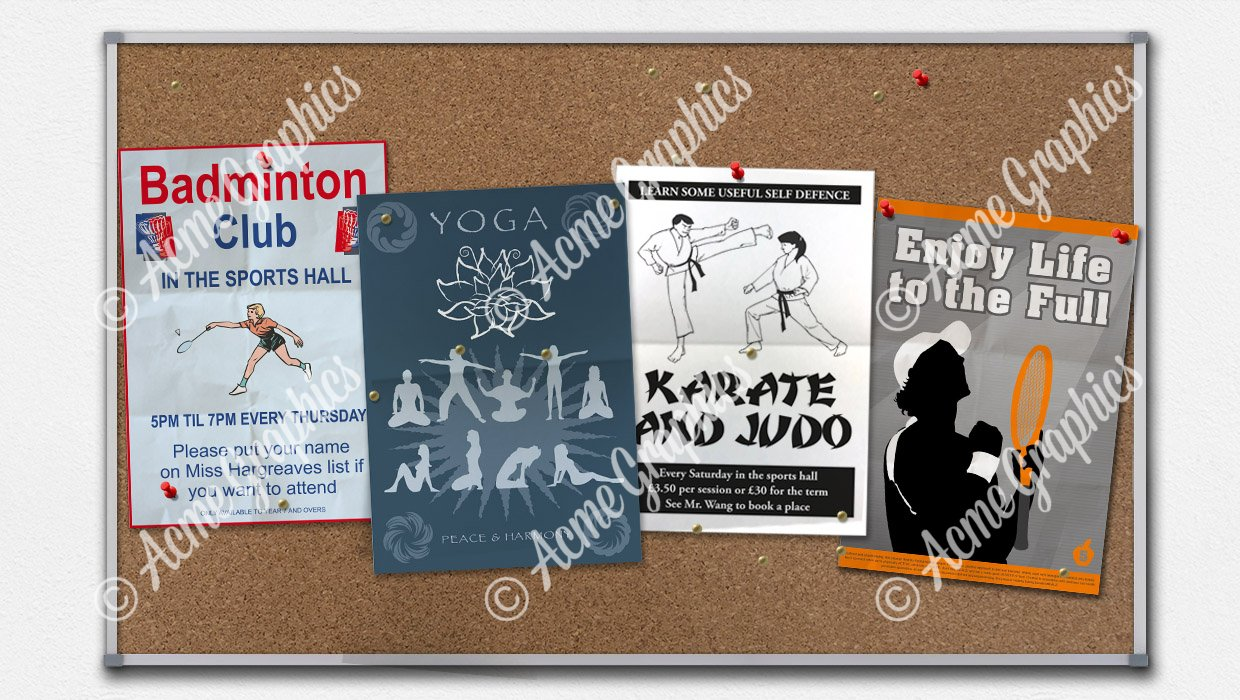 Sports posters copy