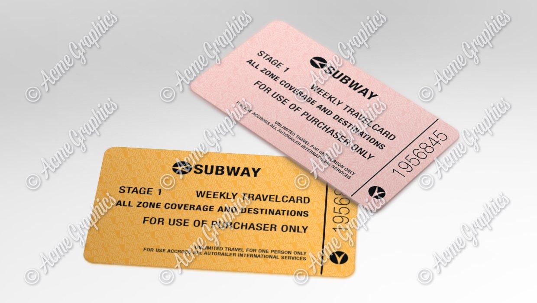 Subway tickets 2