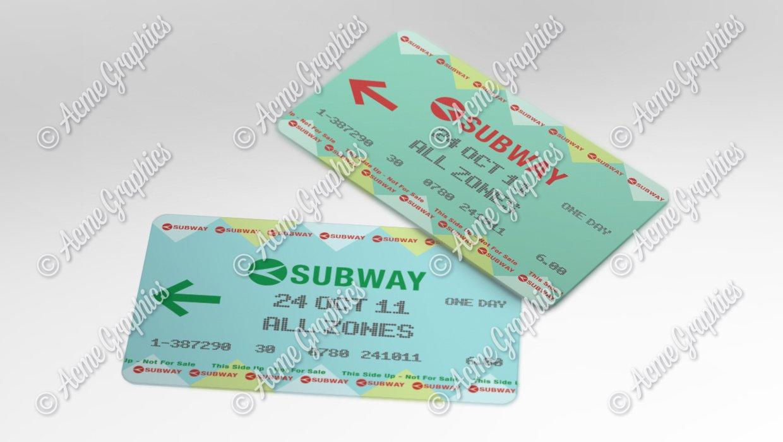 Subway tickets