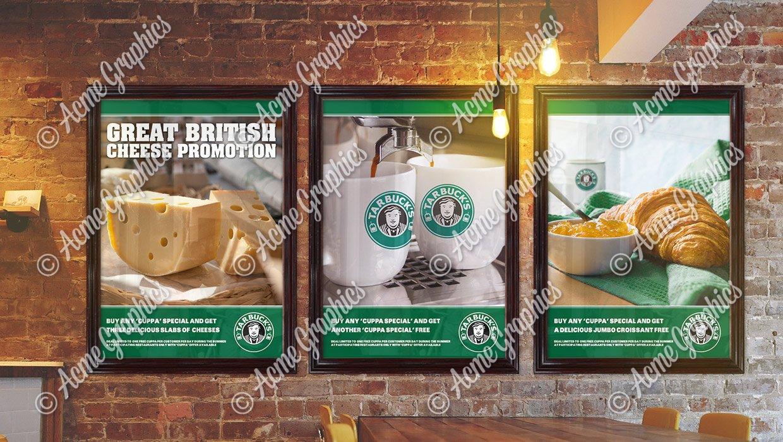 Tarbucks cafe posters