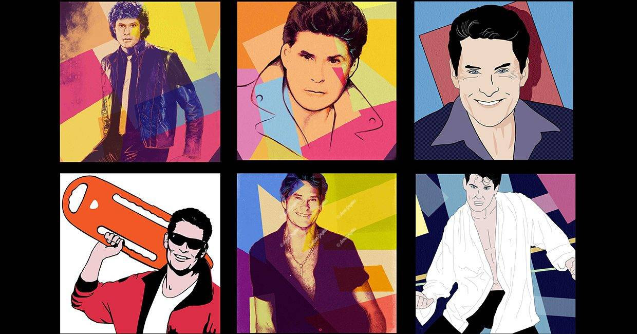 Hoff 80's illustration