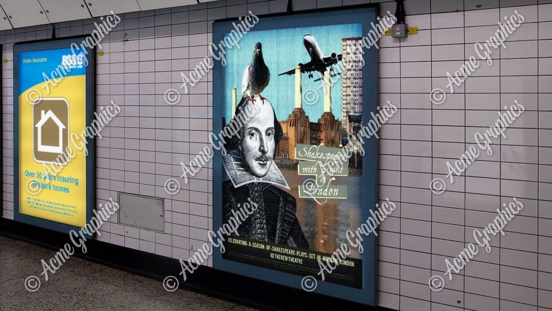 Underground posters mockup