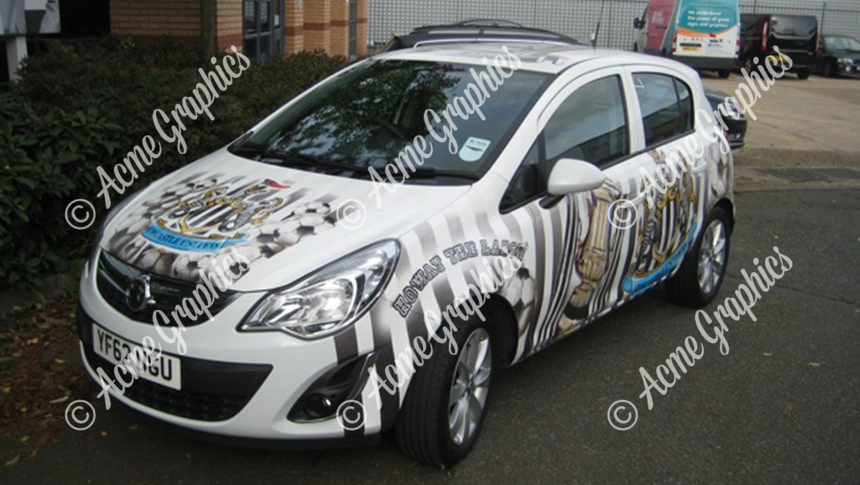 newcastle car wrap
