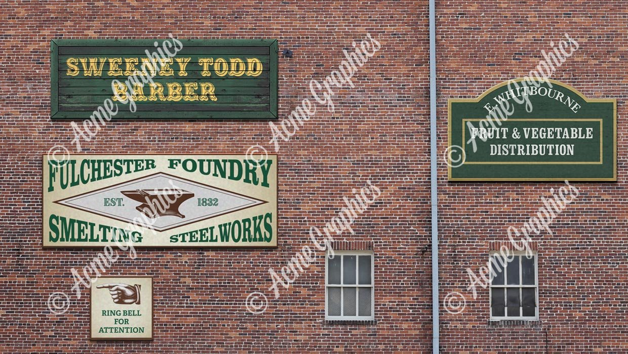 wall of old signs