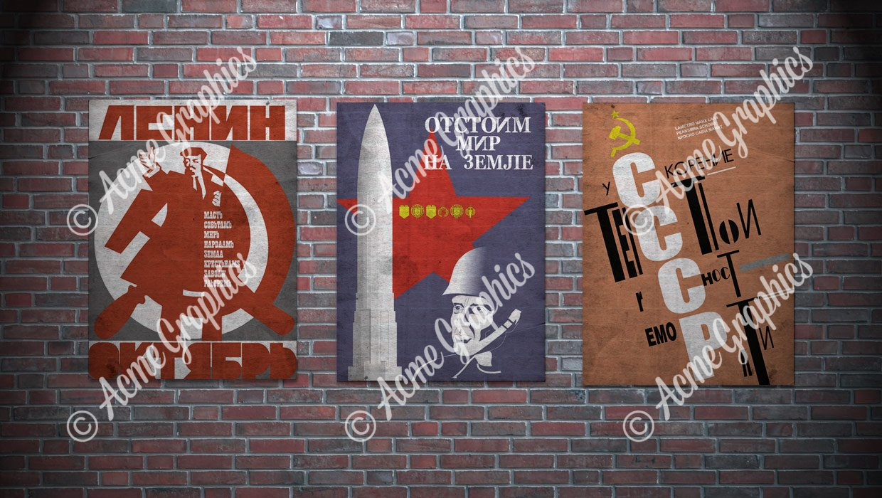 Russian Communist Posters