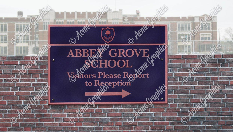 Abbey Grove School sign