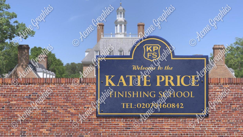 Katie Price School sign
