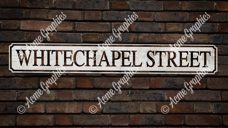 Whitechapel Street prop sign
